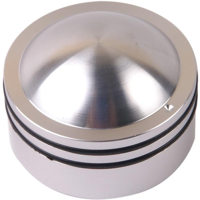 Bouton K014S Aluminium massif Argent 38×26mm pour Ø6mm