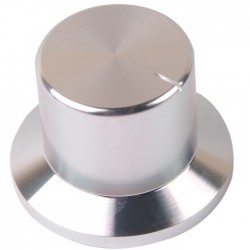 K018S Bouton Aluminium Massif 38×26×26mm Ø6mm Argent
