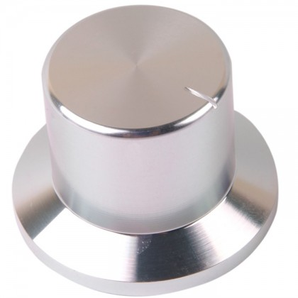 K018S Knob Solid Aluminum 38×26×26mm Ø6mm Silver