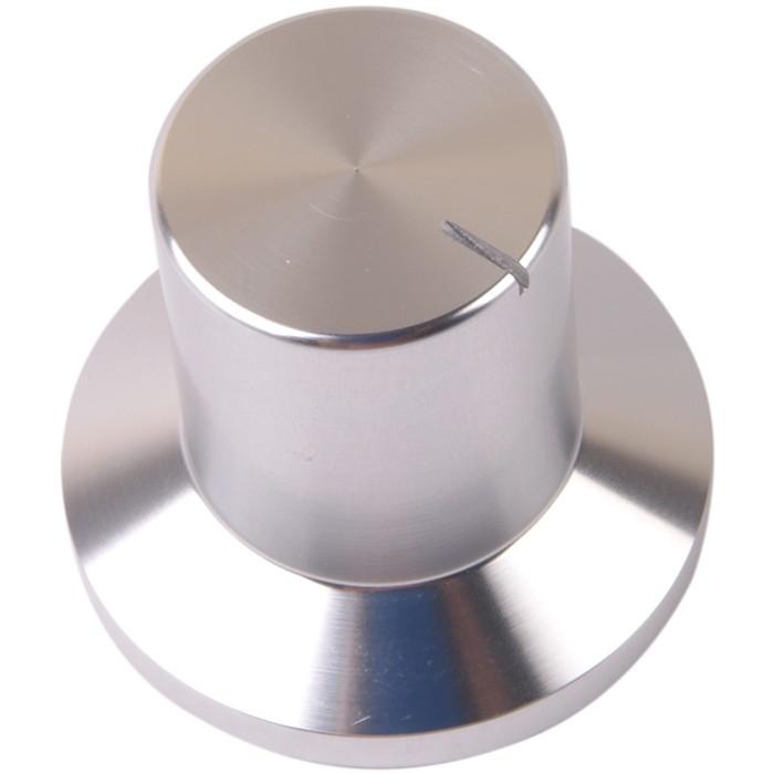 K024S Knob Solid Aluminum 30×18×28mm Ø6mm Silver