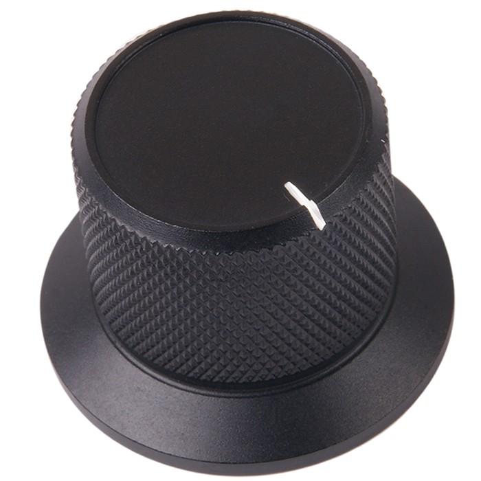 Bouton K026B Aluminium massif Noir 38×28×25mm pour Ø6mm
