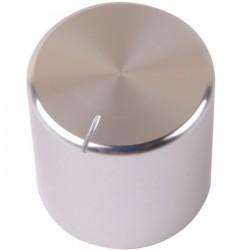 K030S Knob Solid Aluminum 25x25mm Ø6mm Silver