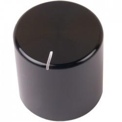 Bouton K032B Aluminium massif Noir 25×25mm pour Ø6mm