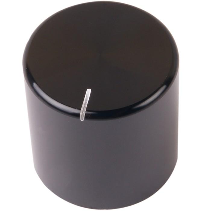 K032B Knob Solid Aluminum 25×25mm Ø6mm Black