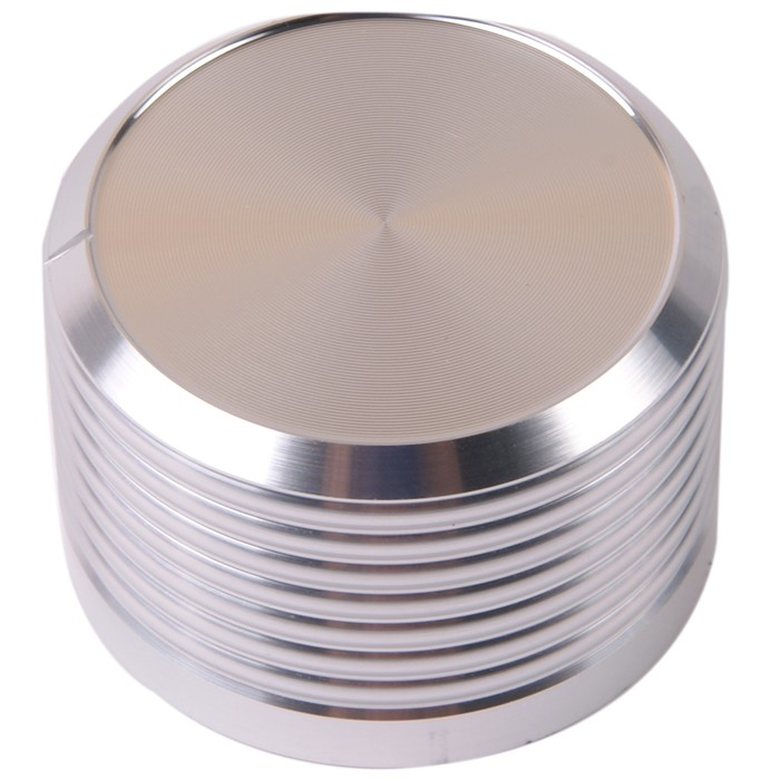 K034S Knob Solid Aluminum 38×25mm Ø6mm Silver