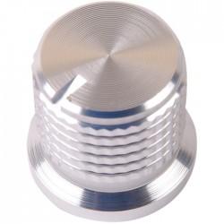 K038S Knob Solid Aluminum 17×16mm Ø6mm Silver
