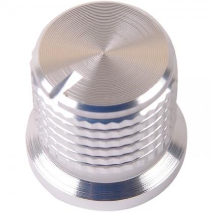Bouton K038S Aluminium massif Argent 17×16mm pour Ø6mm