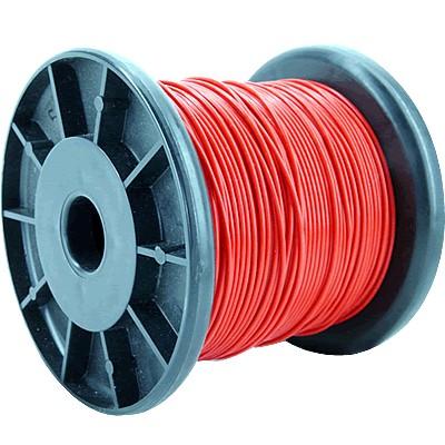 JANTZEN AUDIO HEW-PTFE Fil de Câblage Cuivre/Argent 2.5mm² (Rouge)