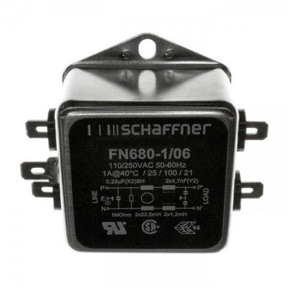 SCHAFFNER FN680-1-06 - Filtre Secteur Anti-Parasites 230V 1A