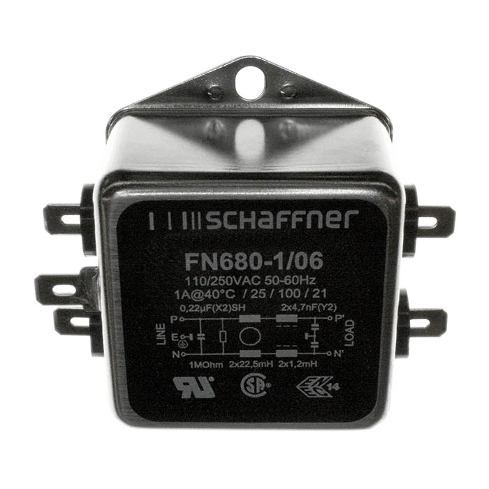 SCHAFFNER FN680-1-06 Filtre Secteur Anti-Parasites 230V 1A