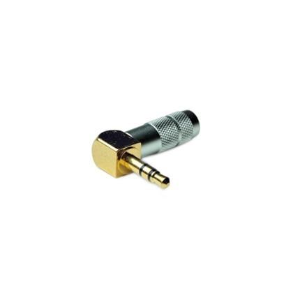 Oyaide P-3.5GL Connecteur Jack Coudé Or 3.5mm stéréo Ø8.3mm