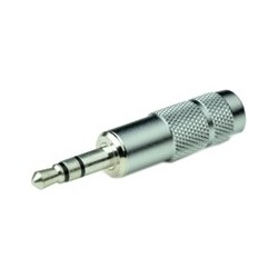 Oyaide P-3.5SR Jack 3.5mm stereo Silver plated Ø8.3mm (Unit)