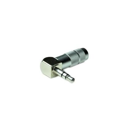 Oyaide P-3.5SRL Connecteur Jack Coudé Argent 3.5mm stéréo Ø8.3mm