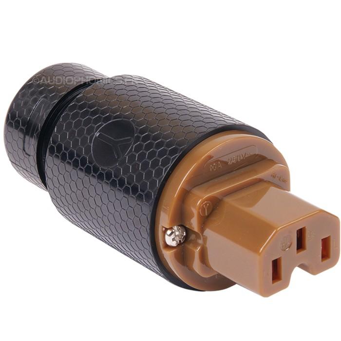 """YARBO PS202 Connecteur secteur IEC """"Red Copper"""" Ø 16.5mm"""