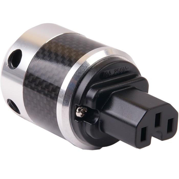 W&M Audio SK-02 CGS Prise IEC Carbon plaquée Argent Ø16mm