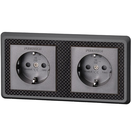 FURUTECH FT-SWS-D Wall outlet SCHUKO Rhodium