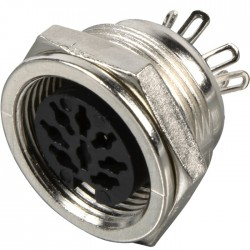 DIN inlet Female 7 pin 270° Ø20mm