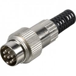 Connecteur DIN Mâle 8 broches 270° avec réducteur