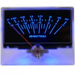TEK Vumétre rétroéclairage bleu dB/Watts/8 ohms 93 mm
