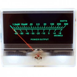 TEK Vu-meter 85mm Green backlighting -60dB / 300 Watts 85 mm