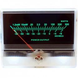 TEK Vumètre 85mm rétroéclairage vert -60dB / 300 Watts