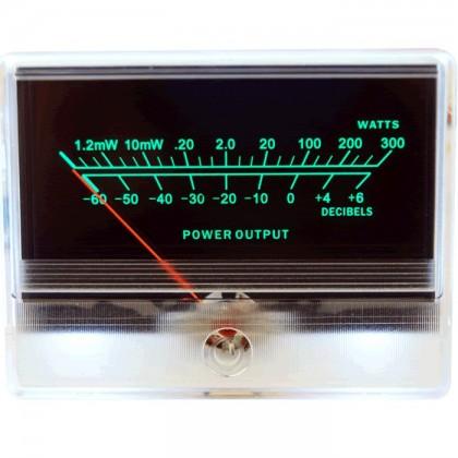 TEK Vumétre rétroéclairage blanc dB/Watts 90 mm