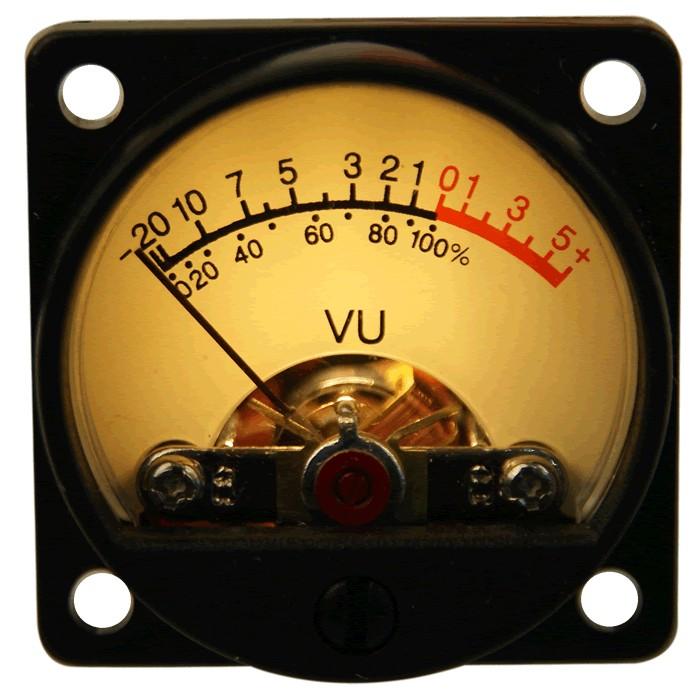 TEK Round Vumeter yellow dB Ø 34 mm