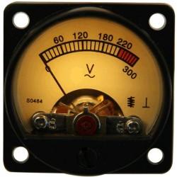 TEK Vumétre Rond Voltmétre 180/300V Ø34mm