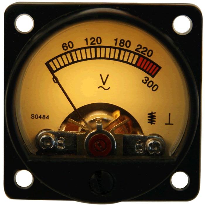 TEK Vumétre Rond Voltmétre 180 / 300V Ø34mm