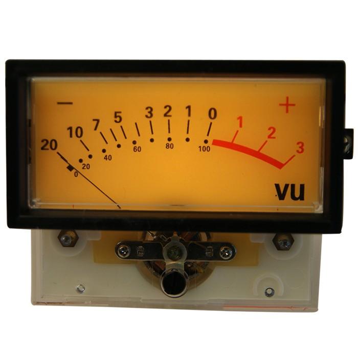 TEK Vumètre 82.5 mm rétroéclairage lampe -20dB
