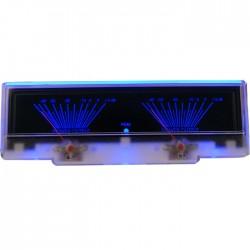 TEK Vumétre rétroéclairage bleu dB 155mm