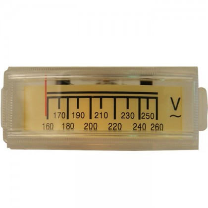 TEK Voltmètre rétroéclairage orange 160-260V 49 mm