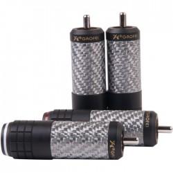 GAOFEI GF-FG011R Connecteurs RCA OCC Rhodium Ø11.5mm (Set x4)