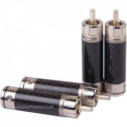 Gaofei CF201R Connecteurs RCA Pin Silver (x4) Ø 10mm