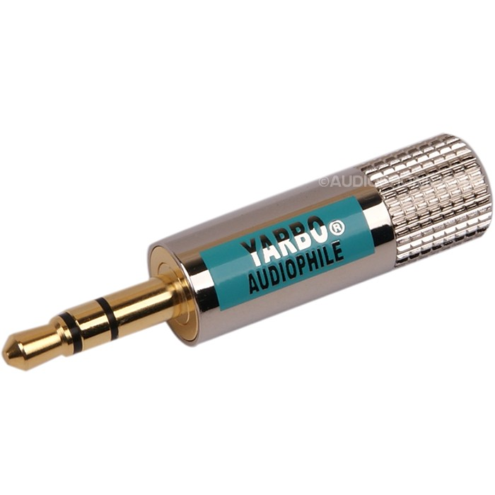 YARBO GY-3.5GNI Connecteur Jack 3.5mm stéréo plaqué Or 24k Ø4.5mm (Unité)