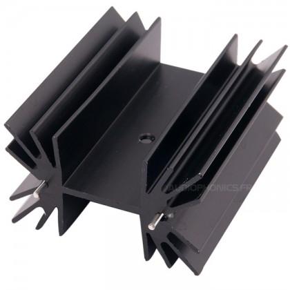 Radiateur Vertical LT1083 aluminium anodisé noir 42x25x50mm
