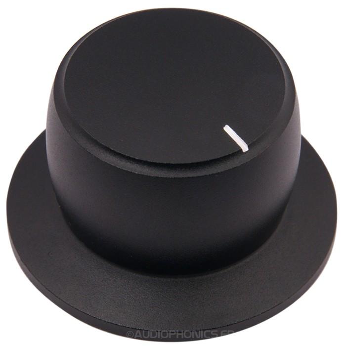 Bouton K040B Aluminium massif Noir 38x28x22mm pour Ø6mm