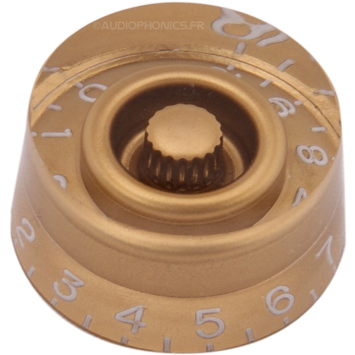 Button 26x25x13mm Gold for Axis notched Ø6mm