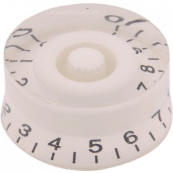 Button 26x25x13mm White for Axis notched Ø6mm