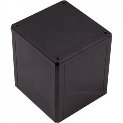 "Housing aluminum ""Hood"" Black for transformer toric 84x80x91mm"