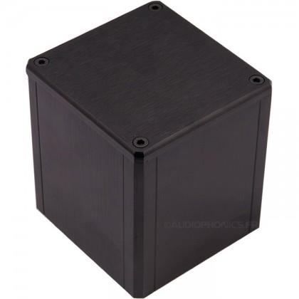 Boîtier aluminium Noir pour transformateur torique 84x80x86mm