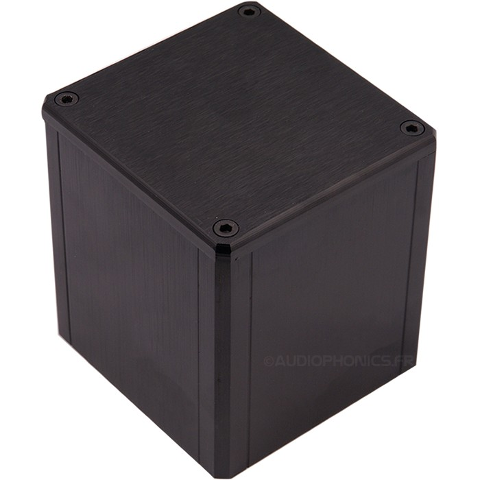 "Housing aluminum ""Hood"" Black for transformer toric 84x80x86mm"