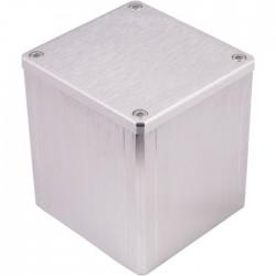 """Boîtier aluminium """"Capot"""" Argent pour transformateur torique 84x80x86mm"""