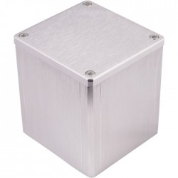 "Housing aluminum ""Cap"" Silver for transformer toric 84x80x86mm"