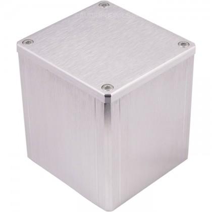 Boîtier aluminium Argent pour transformateur torique 84x80x86mm
