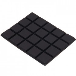Pieds Polyuréthane 3M 59x47x3mm Noir (Set x20)
