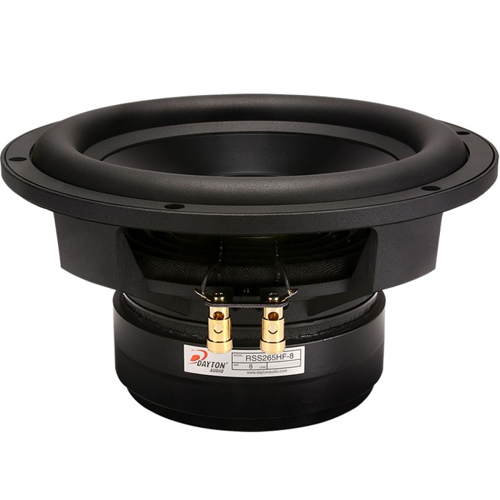 DAYTON AUDIO RSS265HF-8 HP Reference Speaker Driver Subwoofer Aluminium 350W 8 Ohm 84dB 25Hz - 2000Hz Ø25.5cm