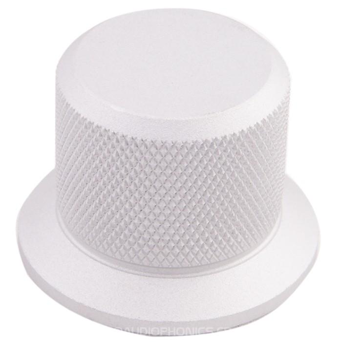 Aluminum Button Dia. 37 mm Gray Flat shaft Ø6mm
