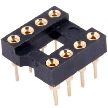 Support DIP8 Plaqué Or pour circuit imprimé