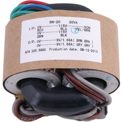 Transformateur R-CORE 30VA 2x9V